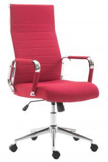 Chefsessel bis 136 kg belastbar rot Stoff Bürostuhl modern design hochwertig