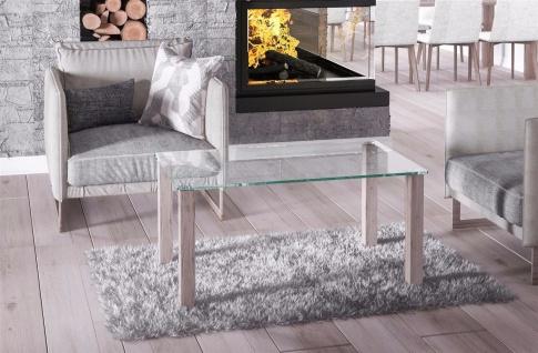 hochwertiger Glastisch San Remo hell Couchtisch Sofatisch preiswert modern neu