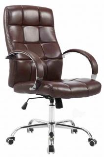 Bürostuhl 120kg belastbar bordeauxrot Kunstleder Chefsessel hochwertig klassisch