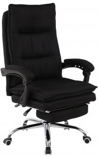 Bürostuhl 136 kg belastbar schwarz Stoffbezug Chefsessel Drehstuhl stabil robust
