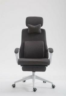 Drehstuhl dunkelgrau 136 kg belastbar Chefsessel Schreibtischstuhl modern design
