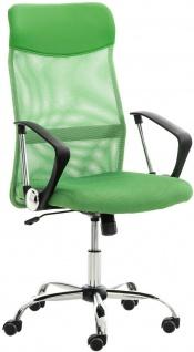 klassischer Bürostuhl grün Netzbezug 140kg belastbar Chefsessel Drehstuhl stabil