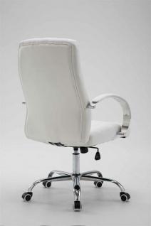 Bürostuhl bis 120 kg belastbar Kunstleder weiß Chefsessel hochwertig klassisch - Vorschau 4