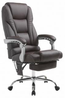 XXL Bürostuhl 150 kg belastbar braun Kunstleder Chefsessel Massagefunktion NEU
