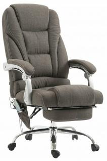 XXL Bürostuhl 150 kg belastbar dunkelgrau Stoffbezug Chefsessel Massagefunktion