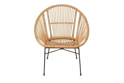 moderner Rattansessel honigfarben Sitzschale Rattanstuhl design günstig Relax