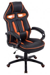 XL Chefsessel 150kg belastbar schwarz orange Bürostuhl schwere Personen stabil