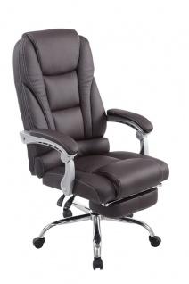 XL Bürostuhl 150kg belastbar braun Kunstleder Chefsessel modern design günstig