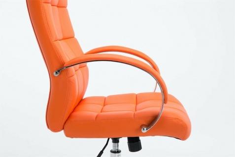 Drehstuhl bis 120 kg belastbar Kunstleder orange Computerstuhl Schreibtischstuhl - Vorschau 3