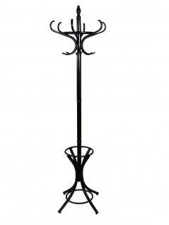 Garderobenständer schwarz massivholz mit Schirmständer Kleiderständer Garderobe