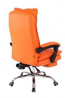XL Bürostuhl 136 belastbar orange Kunstleder Chefsessel Computerstuhl Drehstuhl - Vorschau 4