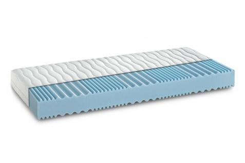"""Komfortschaumkern-Matratze 80x200 cm """" Härtegrad 2 weich"""" 7-Zonen-Wellenschnitt"""