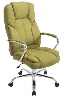 XXL Bürostuhl grün 210 kg belastbar Chefsessel für schwere Personen Stoffbezug