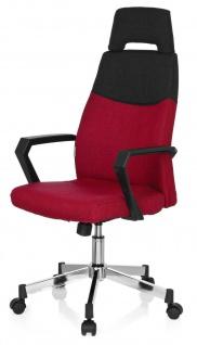 design Bürostuhl Stoff grau/rot Chefsessel Schreibtischstuhl Drehstuhl modern