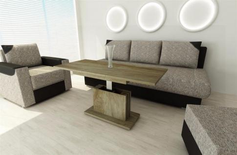 Couchtisch Eiche Monuemnt ausziehbar Wohnzimmer design modern edler Sofatisch