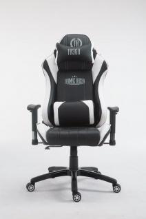 XL Bürostuhl 150 kg belastbar schwarz weiß Chefsessel Zocker Gamer Gaming - Vorschau 2