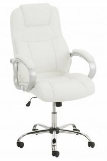 XL Chefsessel 150 kg belastbar Kunstleder weiß Bürostuhl große schwere Personen
