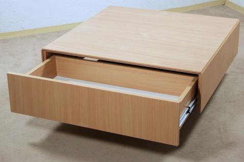 Couchtisch Buche natur Tisch Wohnzimmertisch Sofatisch Schubkasten design neu - Vorschau 1