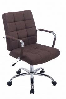 Bürostuhl bis 120 kg belastbar Stoffbezug braun Drehstuhl modern design stabil