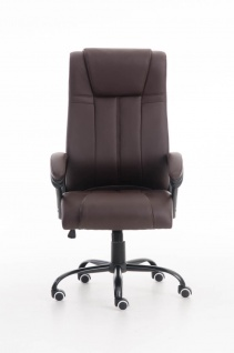 XXL Bürostuhl 150 kg belastbar braun Kunstleder Chefsessel schwere Personen - Vorschau 2