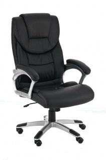 XL Bürostuhl 120 kg belastbar schwarz Kunstleder Chefsessel Drehstuhl stabil