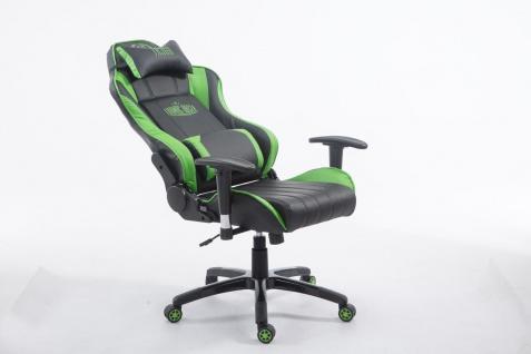 XL Bürostuhl 150 kg belastbar schwarz grün Chefsessel Zocker Gamer Gaming - Vorschau 5