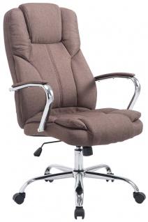 XXL Bürostuhl braun 210 kg belastbar Chefsessel für schwere Personen Stoffbezug