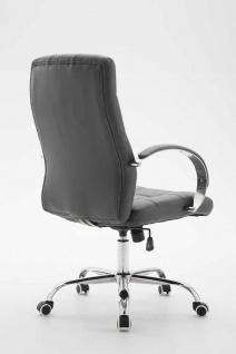Bürostuhl bis 120 kg belastbar grau Kunstleder Chefsessel hochwertig klassisch - Vorschau 4
