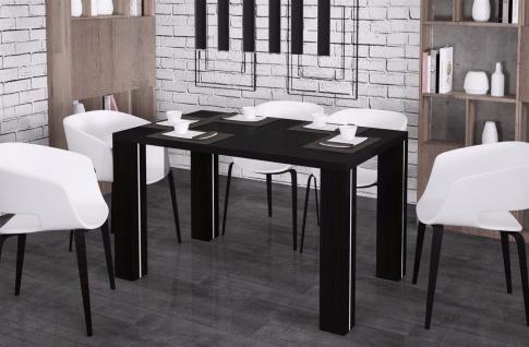hochwertiger Esstisch 80-125 Wenge Esszimmertisch Küchentisch preiswert günstig