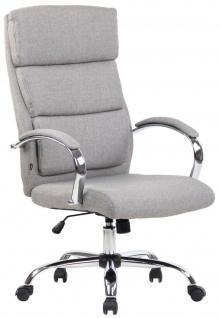 Bürostuhl hellgrau Stoff Chefsessel Drehstuhl Schreibtischstuhl Computerstuhl