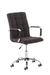 Bürostuhl braun Stoff edler Chefsessel hochwertig exklusiv günstig design modern