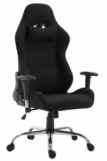 XL Bürostuhl 136 kg belastbar Stoff schwarz Chefsessel Drehstuhl Gamer Zocker