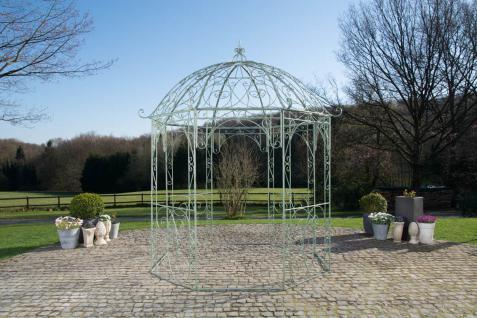 Pavillon Eisen antik grün Rankhilfe stabil Pergola Rosenbogen Rankgitter Garten