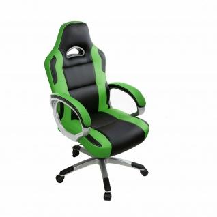 Racing Bürostuhl grün/schwarz 150kg belastbar Chefsessel Drehstuhl stabil robust