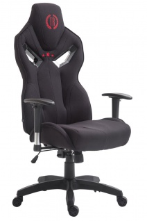 XL Bürostuhl 150 kg belastbar schwarz Stoffbezug Chefsessel hochwertig stabil