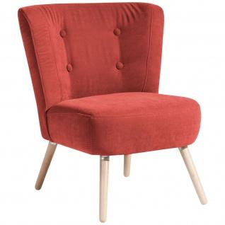 Retro/Vintage Sessel Made in Germany Veloursstoff Wohnzimmersessel Einzelsessel