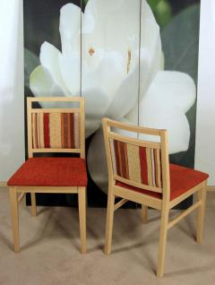 2er-Set moderne Esszimmerstuhl Buche rotbraun Polsterstühle Stuhlset Massivholz