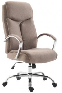 XL Chefsessel 140 kg belastbar Stoffbezug taupe Bürostuhl hochwertig stabil