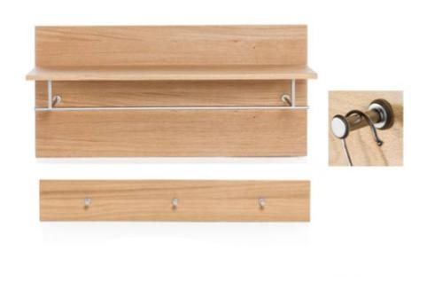 Wandpaneel Wildeiche Echtholz geölt Paneel Garderobenpaneele mit Hakenleiste