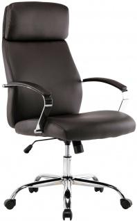 XL Chefsessel 136 kg belastbar braun Kunstleder Bürostuhl modern design NEU