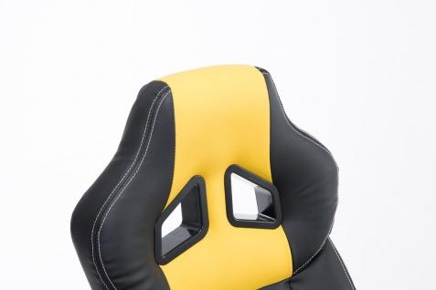 XL Bürostuhl 150 kg belastbar schwarz gelb Kunstleder Chefsessel hochwertig - Vorschau 5