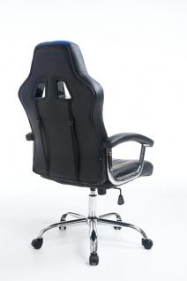 Bürostuhl 150 kg belastbar schwarz blau Kunstleder Chefsessel schwere Personen - Vorschau 4