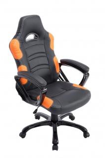 Bürostuhl 150 kg belastbar schwarz orange sportlich Chefsessel schwere Personen