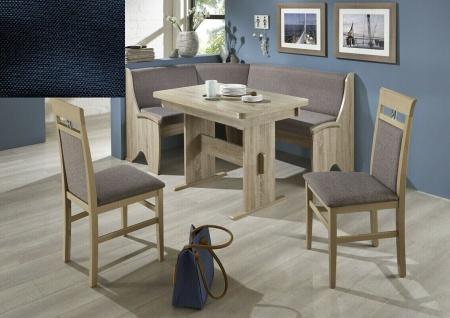 Eckbankgruppe Eiche Sonoma / Stoff schwarz Essecke Tischgruppe Auszugtisch NEU