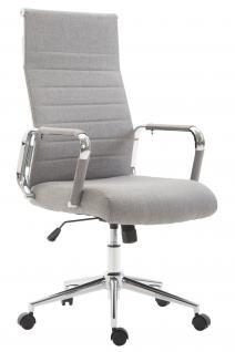 Chefsessel bis 136 belastbar hellgrau Stoff Bürostuhl modern design hochwertig