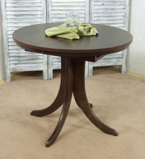 Auszugtisch rund kernnuss walnuss massiv Esstisch Esszimmertisch Tisch Küche neu
