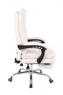 XL Bürostuhl 136 kg belastbar weiß Kunstleder Chefsessel Computerstuhl Drehstuhl - Vorschau 3