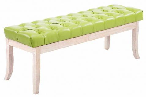Sitzbank grün 120cm Kunstleder Vintage Chesterfield Design antik Garderobenbank