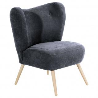 Retro Sessel Veloursstoff Einzelsessel Wohnzimmer Loungesessel Vintage design