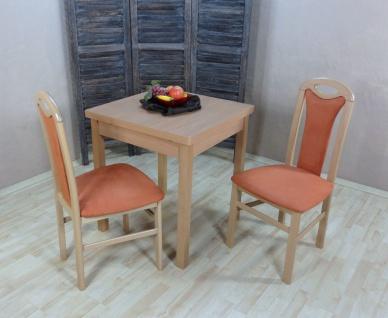 moderne Tischgruppe Buche natur terracotta massivholz Tisch Stühle preiswert